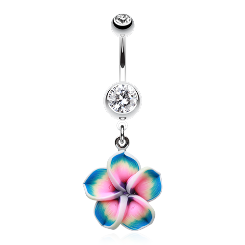 Hawaiian Plumeria Belly Ring