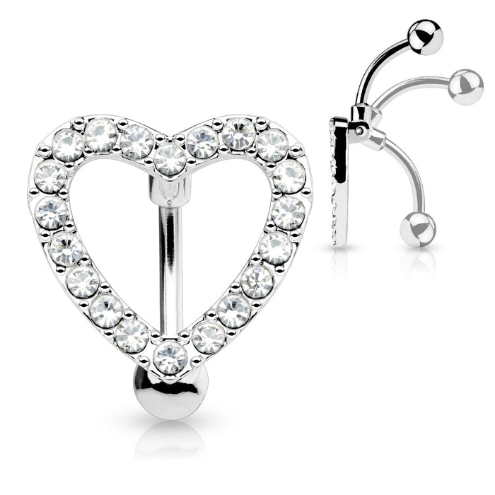 Heart Shield Belly Button Ring