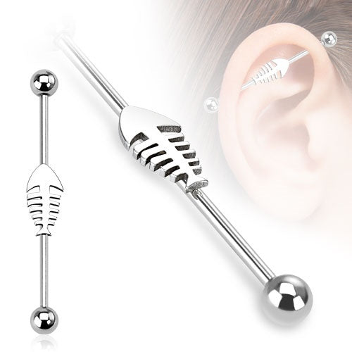 Skeleton Fish Industrial Barbell