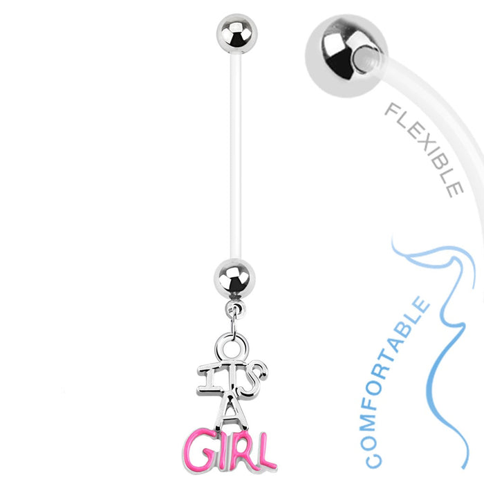 It's a Girl Pregnancy Belly Ring