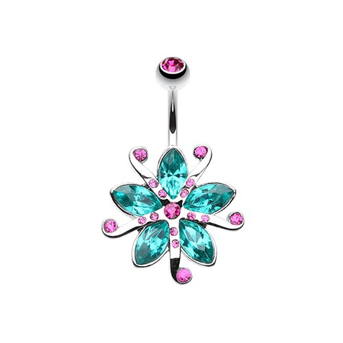 Lily Blossom Belly Ring