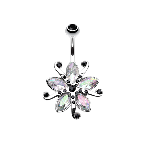 Iridescent Lily Blossom Belly Ring