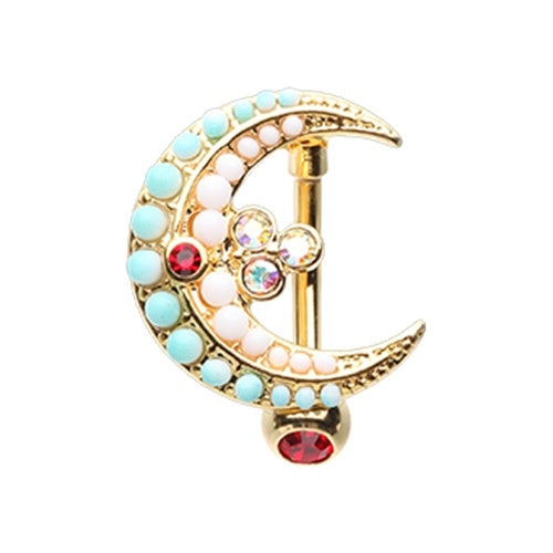 Vibrant Moon Top Down Belly Ring