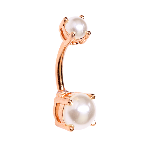 Rose Gold Pearl Belly Ring