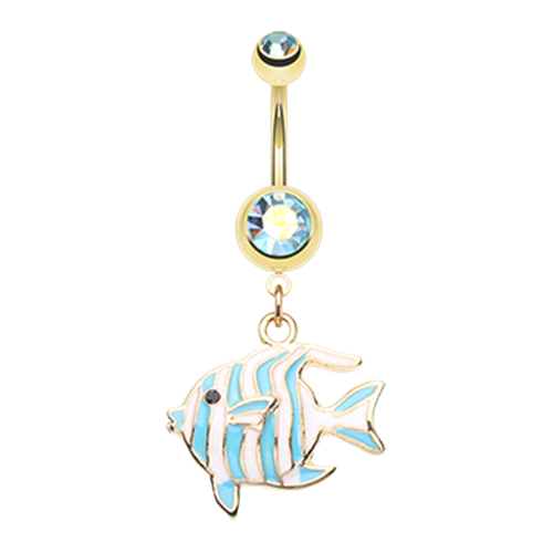 Tropical Fish Belly Ring