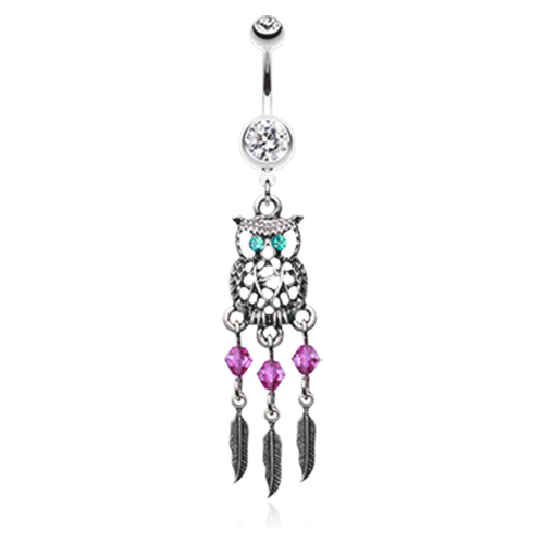 Owl Dreamcatcher Belly Ring