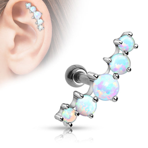 Five Opal Cartilage Ring