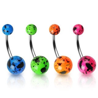 Splattered Paint Belly Ring