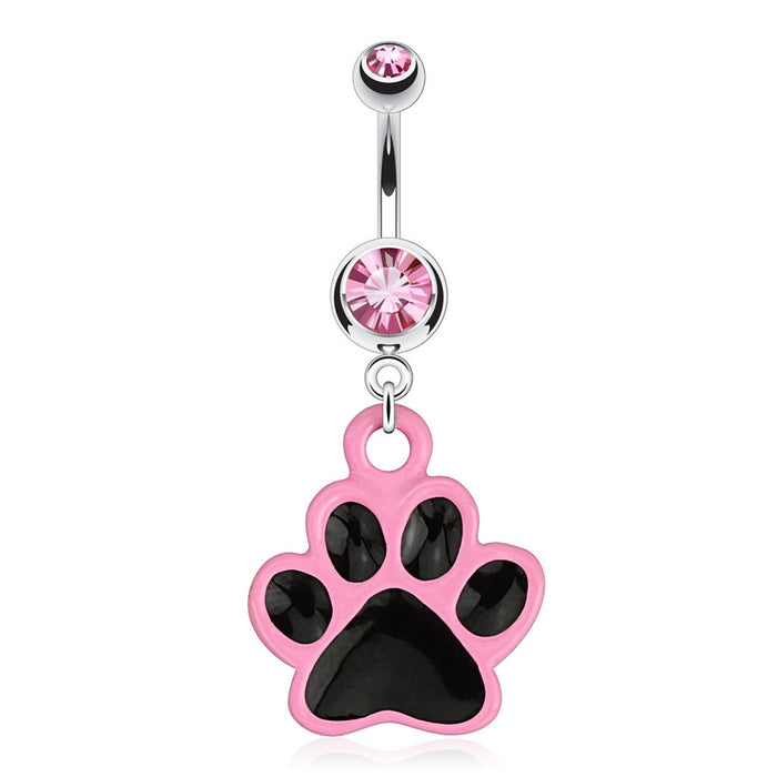 Paw Dangling Belly Ring