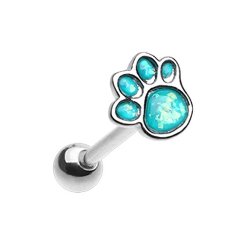 Paw Print Tongue Ring