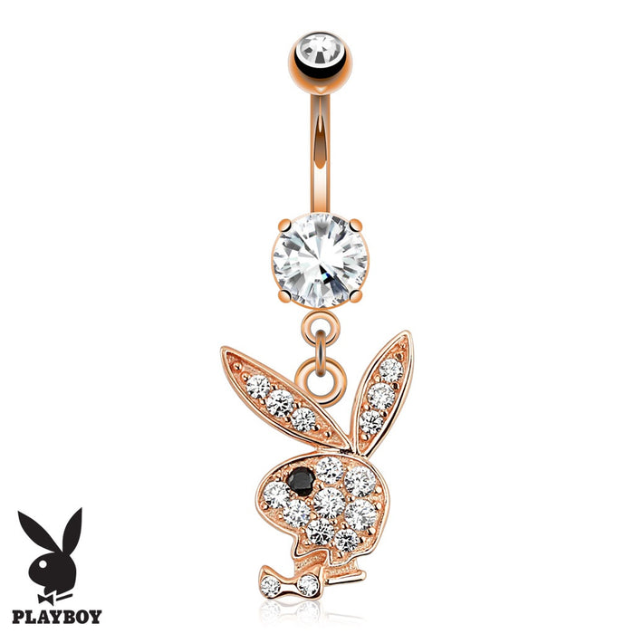 Playboy Bunny Rose Gold Belly Ring