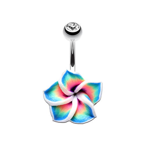 Hawaiian Plumeria Non Dangle Belly Ring