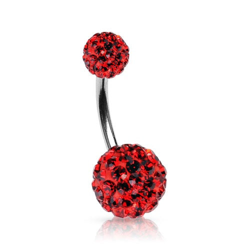 Red Swarovski Crystal Ferido Belly Ring