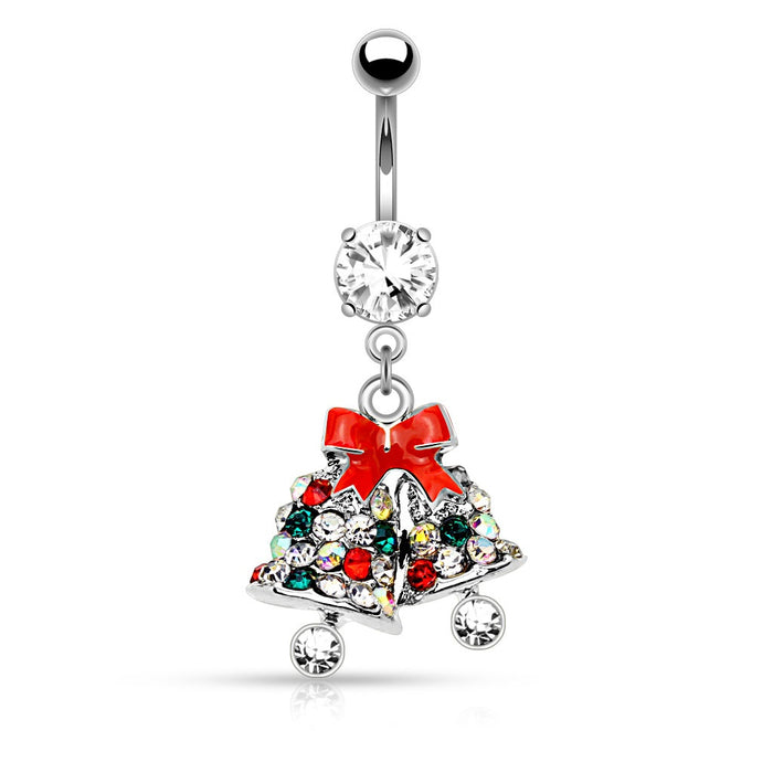 Silver Jingle Bells Belly Ring