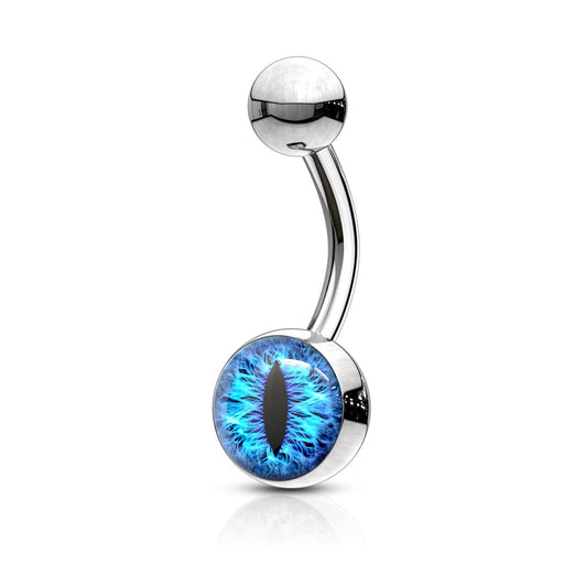 Blue Snake Eye Belly Ring