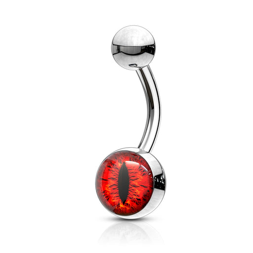 Red Snake Eye Belly Ring