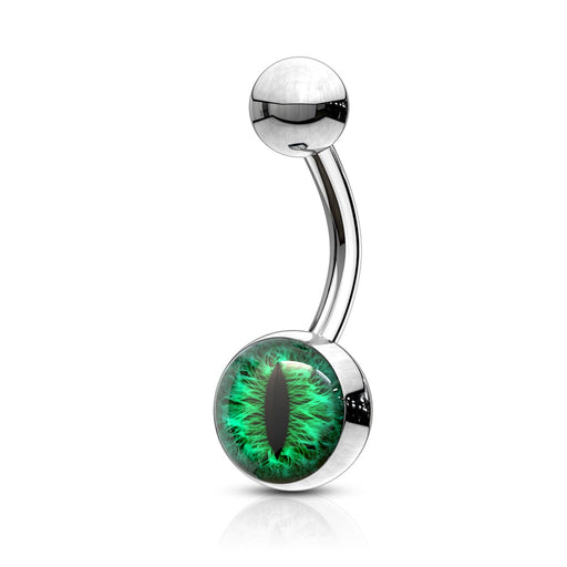 Green Snake Eye Belly Ring