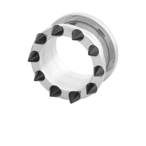 0 Gauge Screw Fit Tunnel with Spikes - Sold Individually