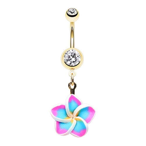 Tropical Plumeria Belly Ring