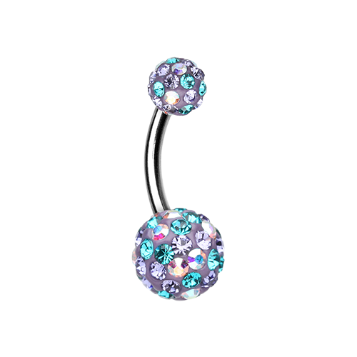 Purple and Teal Sprinkles Belly Ring