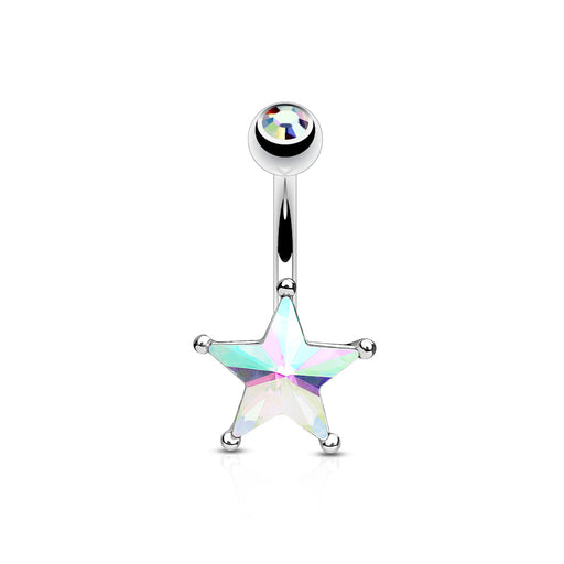 Iridescent Star Belly Ring