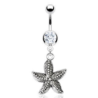 Vintage Starfish Belly Button Ring