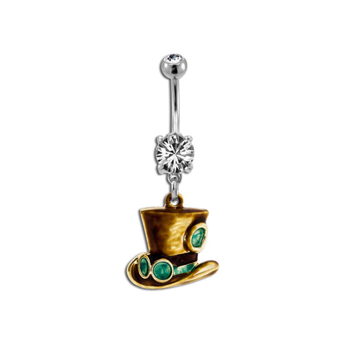 Steampunk Top Hat Belly Ring