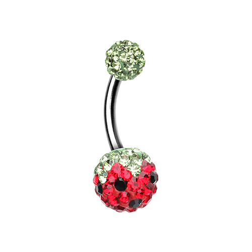 Strawberry Multi Sprinkle Belly Ring