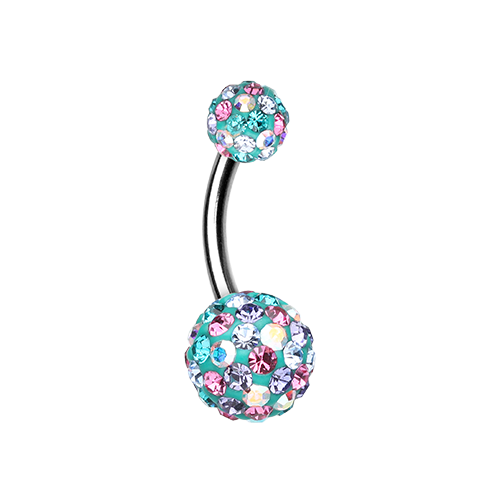 Teal Sprinkles Belly Ring