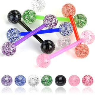 Ultra Glitter Flexible Tongue Ring