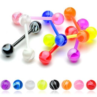 Flexible Marble Tongue Ring