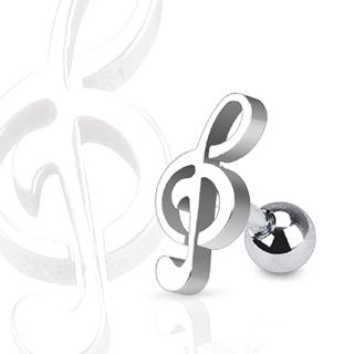 Treble Clef Cartilage Ring