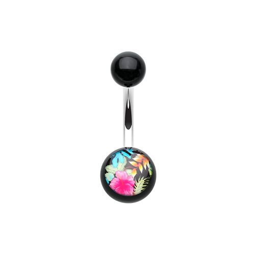 Acrylic Tropical Belly Ring