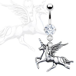 Dangling Unicorn Belly Ring