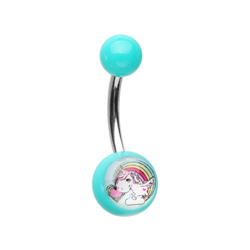 Acrylic Unicorn Belly Ring
