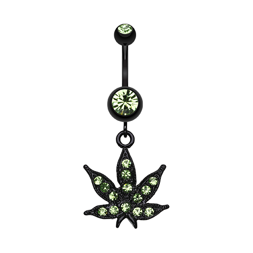Blackline Weed Belly Ring