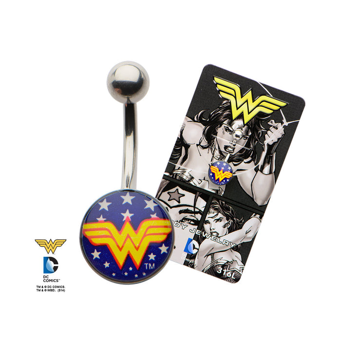 Non Dangle Wonder Woman Belly Ring
