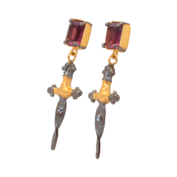 Earrings Luxury Art Deco Golden Set X
