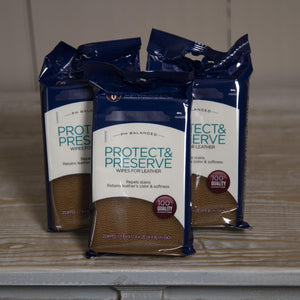 Protect & Preserve Leather Wipes