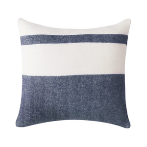 Striped Herringbone Pillow with Down Feather Insert