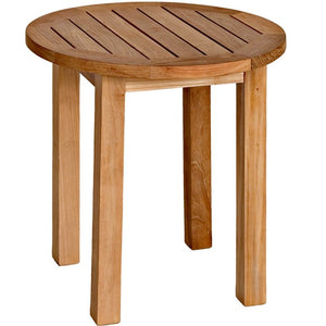 Teak Tall Round Side Table