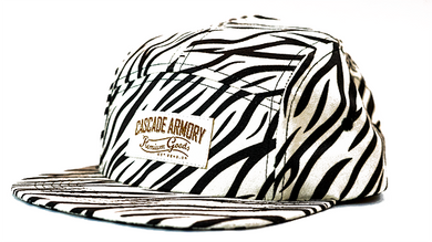 Funner 5 Panel Hat - Zebra