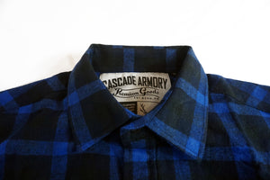 The Galveston Flannel - Midnight Blue