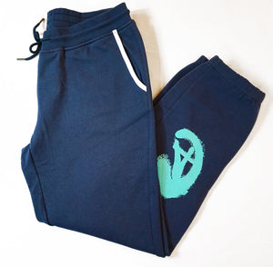 CA Boyfriend Sweatpants - Navy & Teal