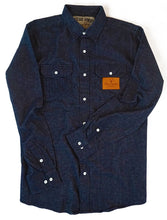The Galveston Flannel - Denim Blue