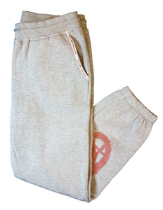 CA Boyfriend Sweatpants - Gray & Salmon