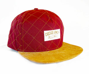 Skyliner Quilted Snapback Hat - Maroon and Gold