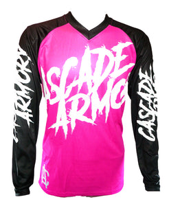 The Sender 2 MTB Jersey - Back in Black and Pink