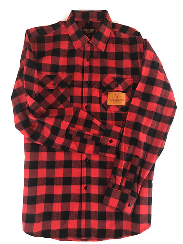 The Galveston Flannel - Black & Red