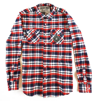 The Century Flannel - Red & Navy